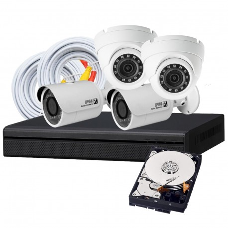 4 Camera DIY HD CVI Security System
